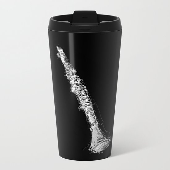 Clarinet Metal Travel Mug