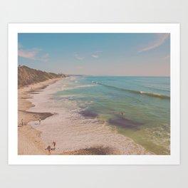 Beach San Diego. Let's go for a swim Art Print