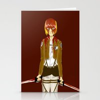snk Stationery Cards featuring Bloody Armin by Paula Urruti