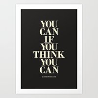 You Can If You Think You Can Art Print