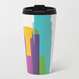 Shapes of Los Angeles accurate to scale Metal Travel Mug
