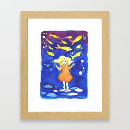 Little Guppies Framed Art Print