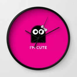 ZERKVELER - I'm cute Wall Clock