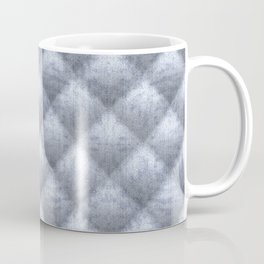 Quilted Soft Blue Velvety Pattern Coffee Mug