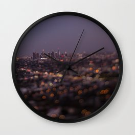 Angel City Lights (L.A. at Night) Wall Clock