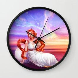 Cancer OC - 12 Zodiac Ladies Wall Clock