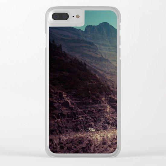Adventure Mountain Clear iPhone Case