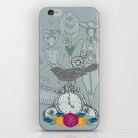 folk iPhone & iPod Skins featuring Folk by karyn johnstone