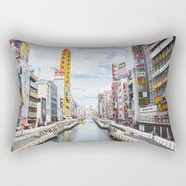 Osaka city view Rectangular Pillow