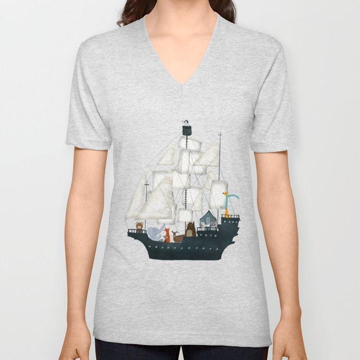 a nautical adventure Unisex V-Ausschnitt