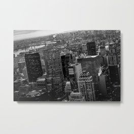 Manhattan Noir - Sky view Metal Print