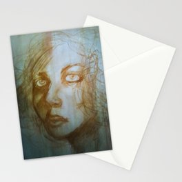 Charcoal Portrait (Magda) Stationery Cards