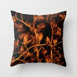 Night Leaves Throw Pillow