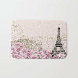 Carte Postale Eiffel x Floral Art Deco Bath Mat