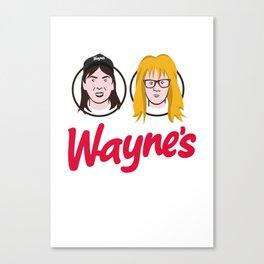 Wayne's Double Canvas Print