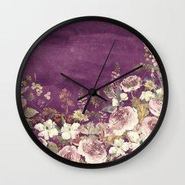 Vintage Garden (Sweet Roses) Wall Clock
