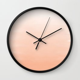 Modern coral watercolor paint brushstrokes ombre pattern Wall Clock