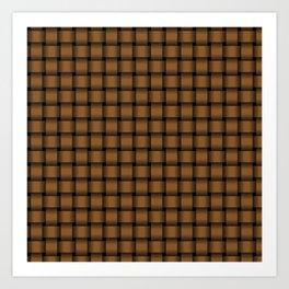 Small Brown Weave Art Print