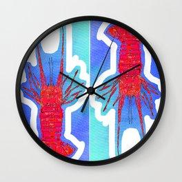 lobster nautical beach costal Wall Clock
