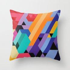 Flat Geometry 01 Throw Pillow