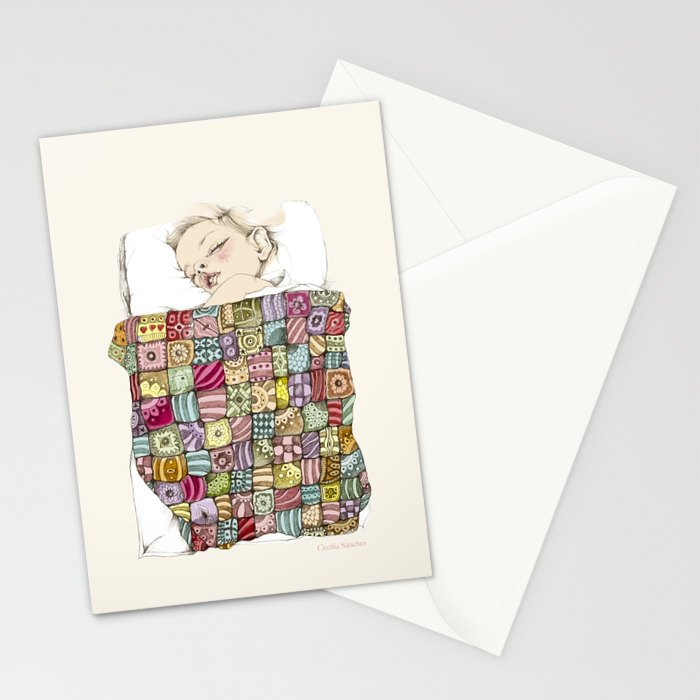 sleeping child Stationery Cards