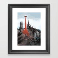 Bloody tomorrows Framed Art Print