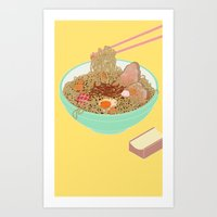 ramen Art Prints featuring Ramen! by Edge