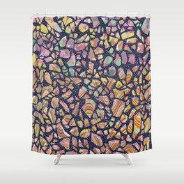 Graphic Terrazzo Shower Curtain