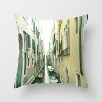 italy Throw Pillows featuring italy by Harriet Hendricks