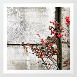 Holly Jolly Art Print
