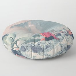 Lost in the 17th Dimension Floor Pillow