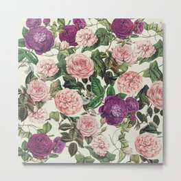 Light Floral Pattern Metal Print