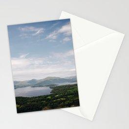 The vast landscape of Loch Lomond on a mild summer's day - Scotland. Stationery Cards