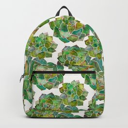 Rosette Succulents – Green Palette Backpack