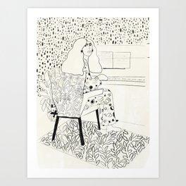 Sound of fingertips Art Print