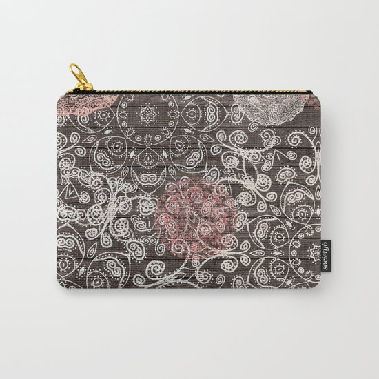 HAPPY GO LUCKY - BOHO WOOD Carry-All Pouch