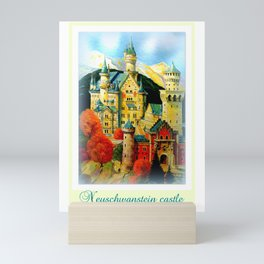 Neuschwanstein castle Mini Art Print