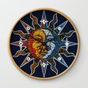 Celestial Mosaic Sun and Moon by sandersart