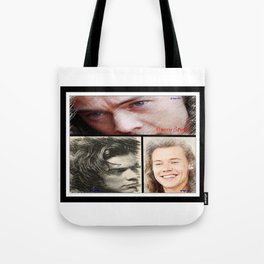 Harry Styles, One Direction, 1D, 1dFanArt Tote Bag