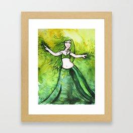 Summer Belly Dancer Goddess Framed Art Print