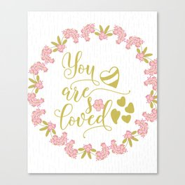 You are So Loved Nursery Typography Art Canvas Print