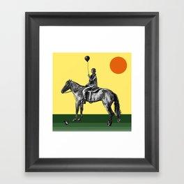 Caballeros in the sun Framed Art Print