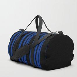 Black and blue striped . Duffle Bag