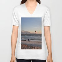 south africa V-neck T-shirts featuring Sunset Beach - South Africa by The 3rd Eye