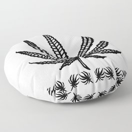 Marijuana leaf tapestry Floor Pillow