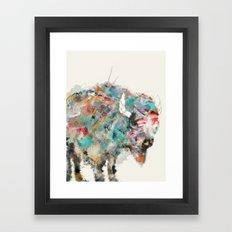 into the wild the buffalo Framed Art Print