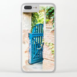 BLUE GARDEN GATE Clear iPhone Case