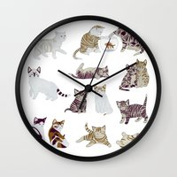 kittens Wall Clocks featuring Little Kittens by Yuliya