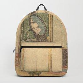 Hokusai, the toilet of a woman- manga, japan,hokusai,japanese,北斎,ミュージシャン Backpack