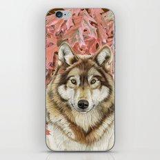 Wolf_leaves iPhone & iPod Skin